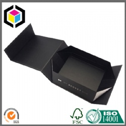 UV Glossy Logo Black Cardboard Paper Gift Box with Magnet