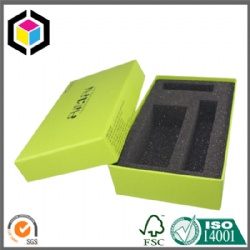 Green Color Print Cardboard Gift Box with Black Foam