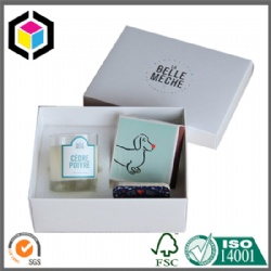 Two Pieces Style Cardboard Paper Candle Gift Box
