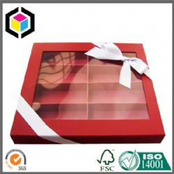 Clear Plastic Window Cardboard Chocolate Paper Gift Box