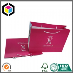 Cotton Handle Color Print Luxury Shopping Paper Bag